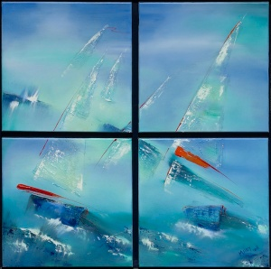 Sail-Race-4some-oil-on-canvas,
