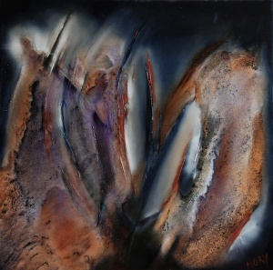Coming-Out-80x80cm-oil-on-canvas-Sold