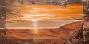 The-Beach-140x70-cm-oil-on-canvas-SOLD